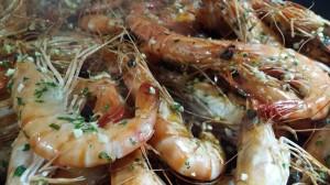 vert-de-vin-recette-crevettes-sautées-poele