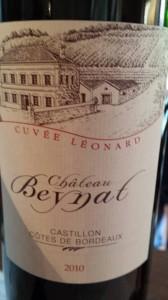Château Beynat – Cuvée Léonard 2010 – Castillon Côtes de Bordeaux