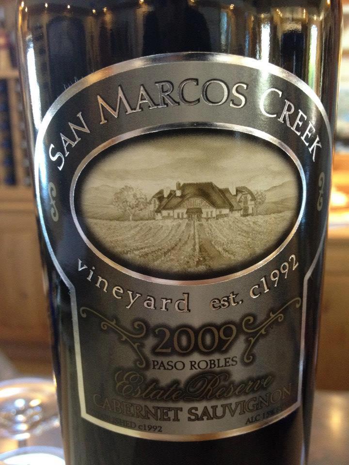 San Marcos Creek vineyard – Cabernet Sauvignon Estate Reserve 2009 – Paso Robles