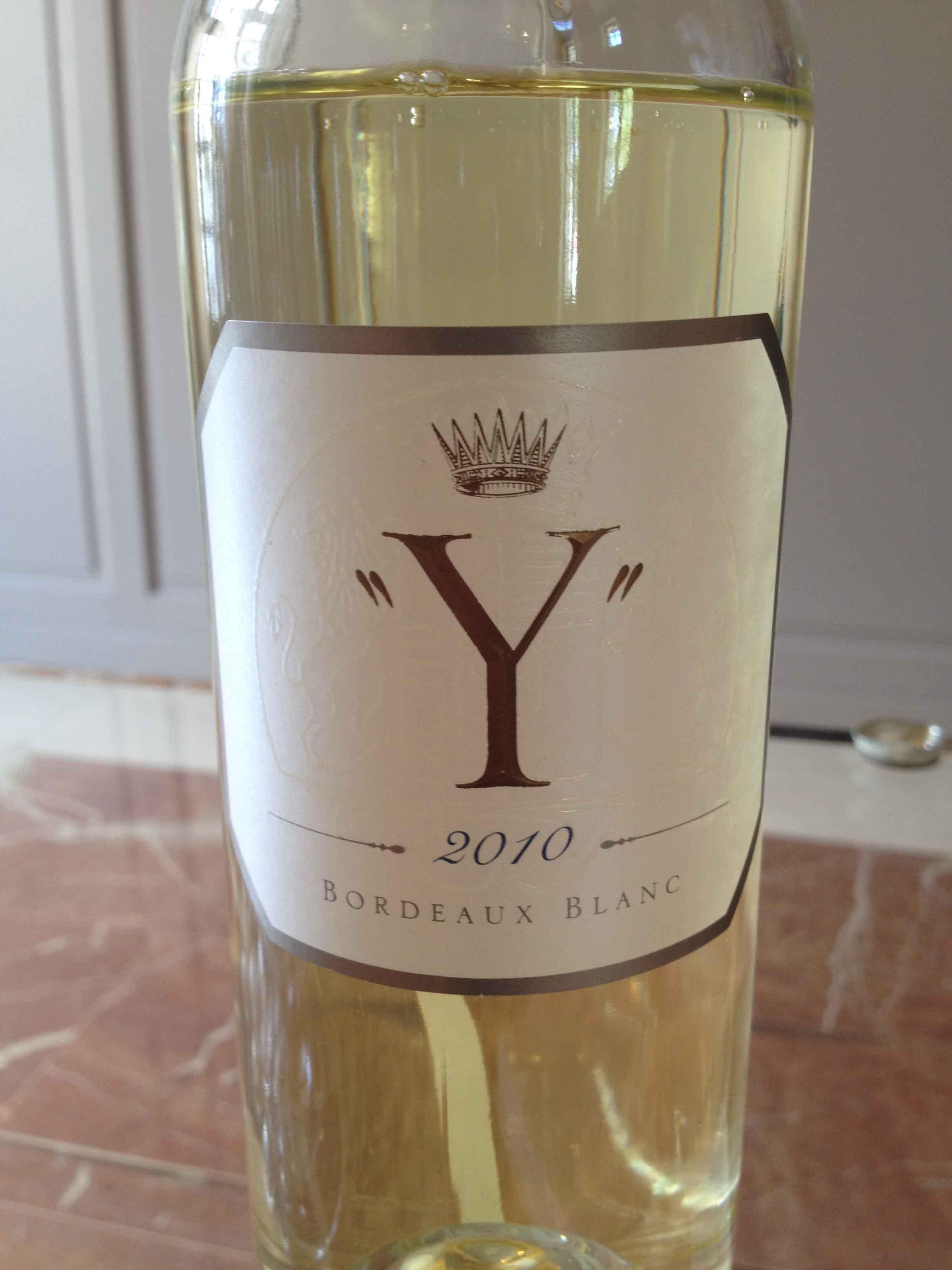 « Y » d'Yquem, 2010 – Bordeaux Blanc