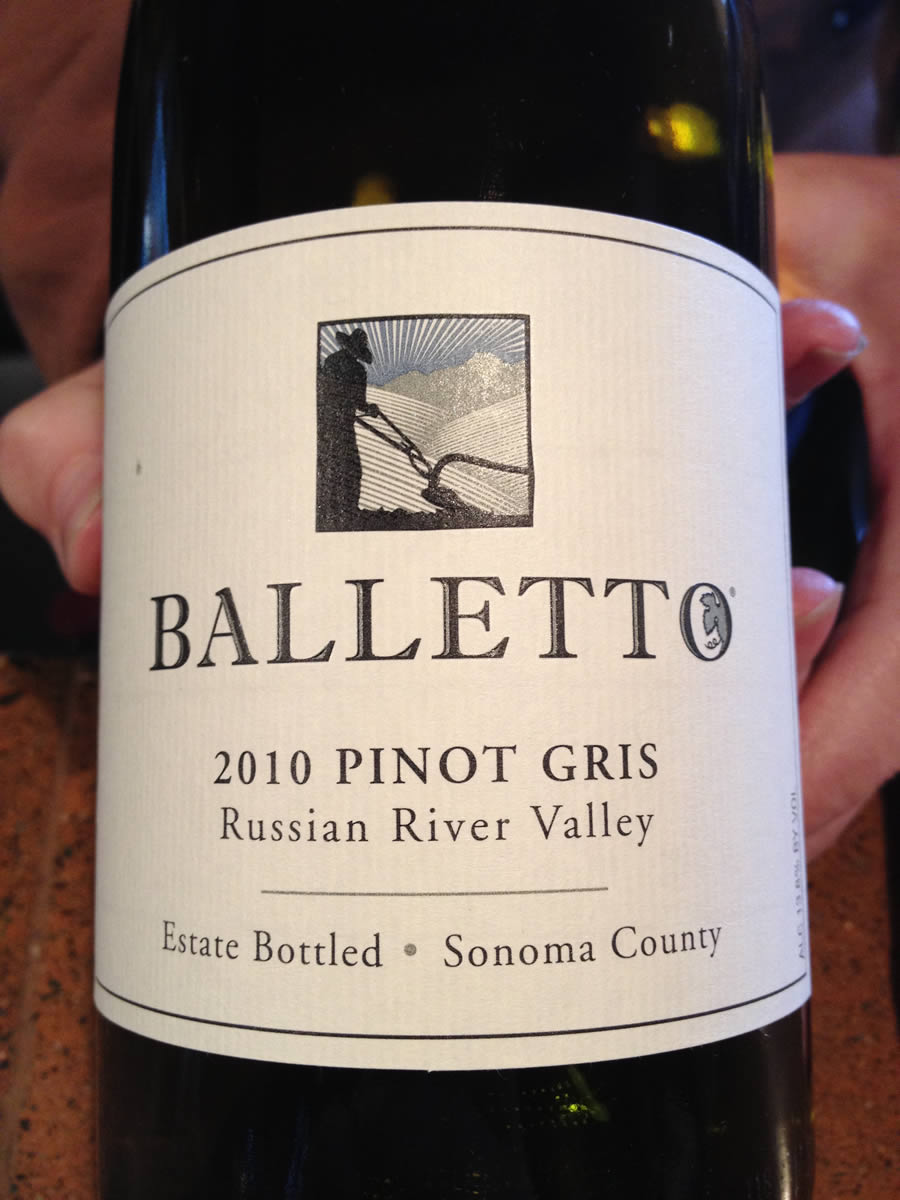 Balletto Winery – Pinot Gris 2010 – Russian River Valley – Sonoma