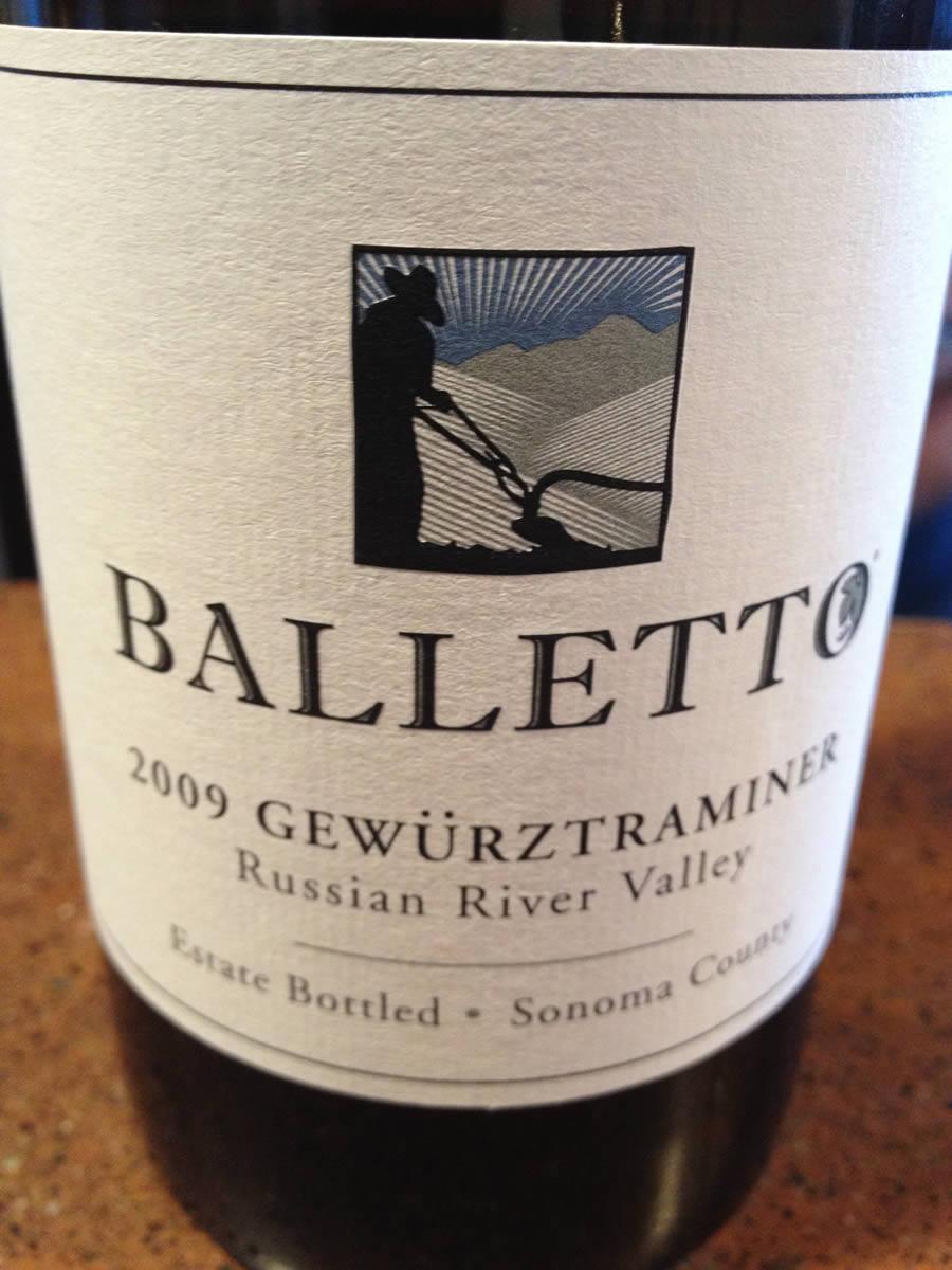 Balletto Winery – Gewurztraminer 2009 – Russian River Valley – Sonoma