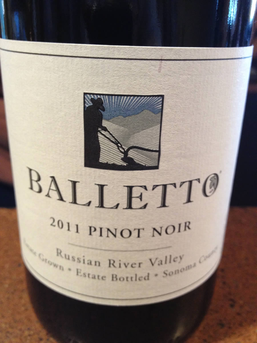 Balletto Winery – Pinot Noir 2011- Russian River Valley – Sonoma