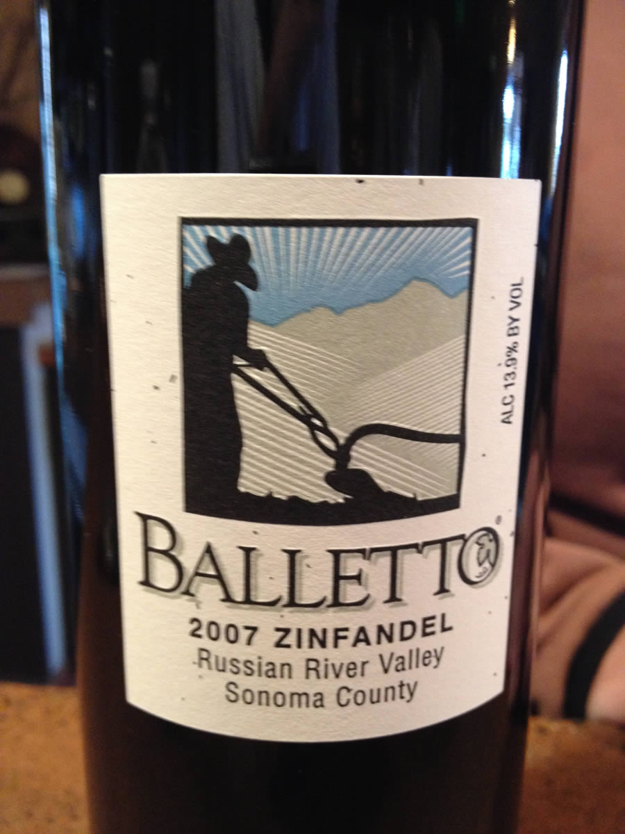 Balletto Winery – Zinfandel 2007 – Russian River Valley – Sonoma