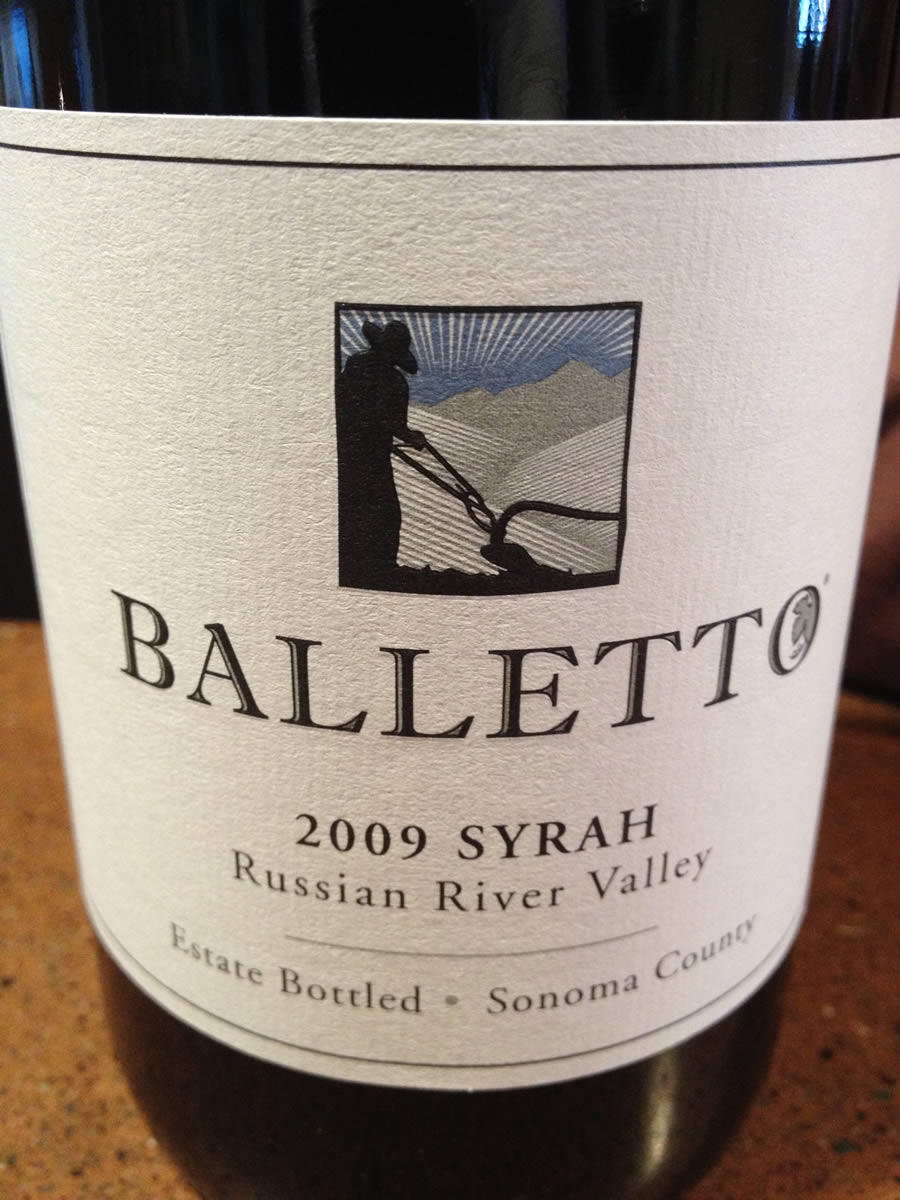 Balletto Winery – Syrah 2009 – Russian River Valley – Sonoma