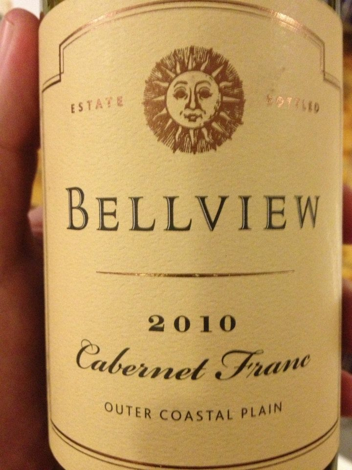 Bellview winery – Cabernet Franc 2010 – Outer Coastal Plain
