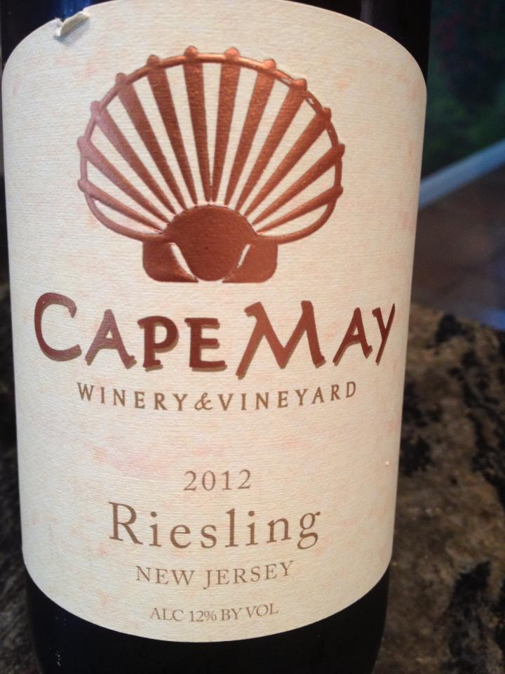 Cape May Winery – Riesling 2012 – Outer Coastal Plain