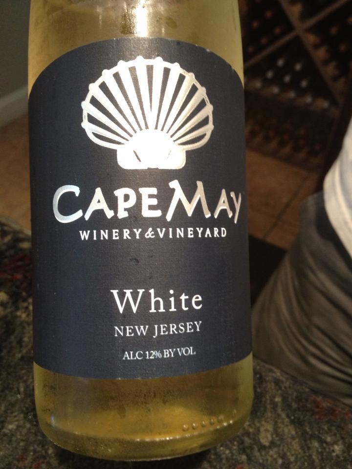 Cape May Winery – Vidal Blanc White 2012 – Outer Coastal Plain