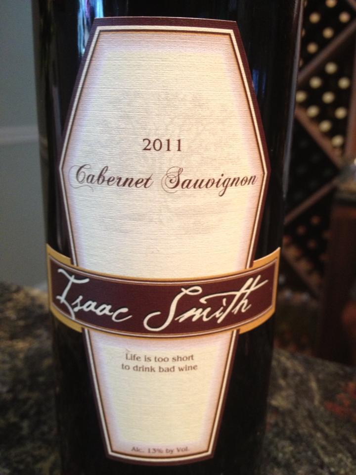 Cape May Winery – Isaac Smith Cabernet Sauvignon 2011 – Outer Coastal Plain