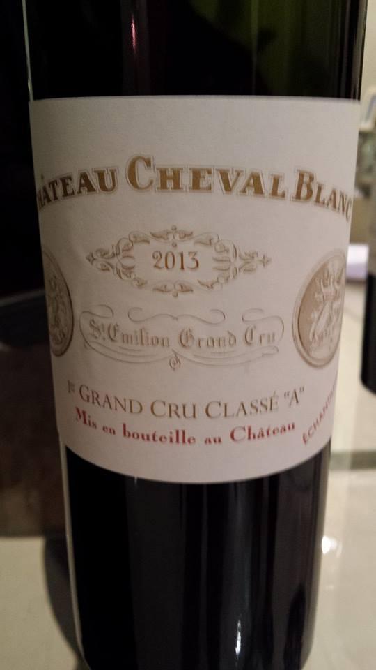 Château Cheval Blanc – 1er Grand Cru Classé A de Saint-Emilion – 2013