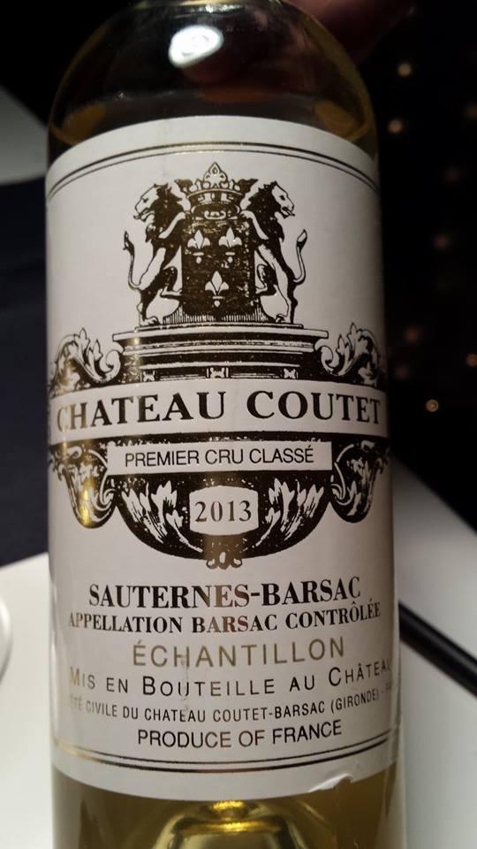 Château Coutet – 1er Grand Cru Classé de Sauternes à Barsac – 2013