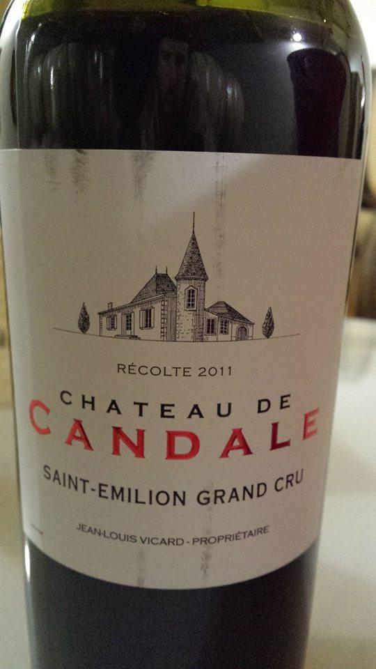 Château de Candale 2011 – Saint-Emilion Grand Cru