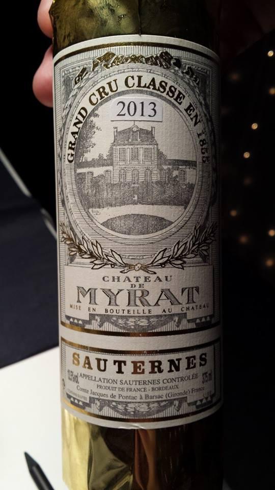 Château de Myrat – 1er Grand Cru Classé de Sauternes – 2013