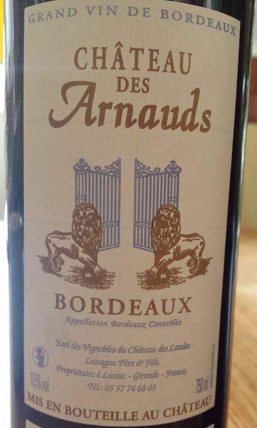 Château des Arnauds – Bordeaux 2012