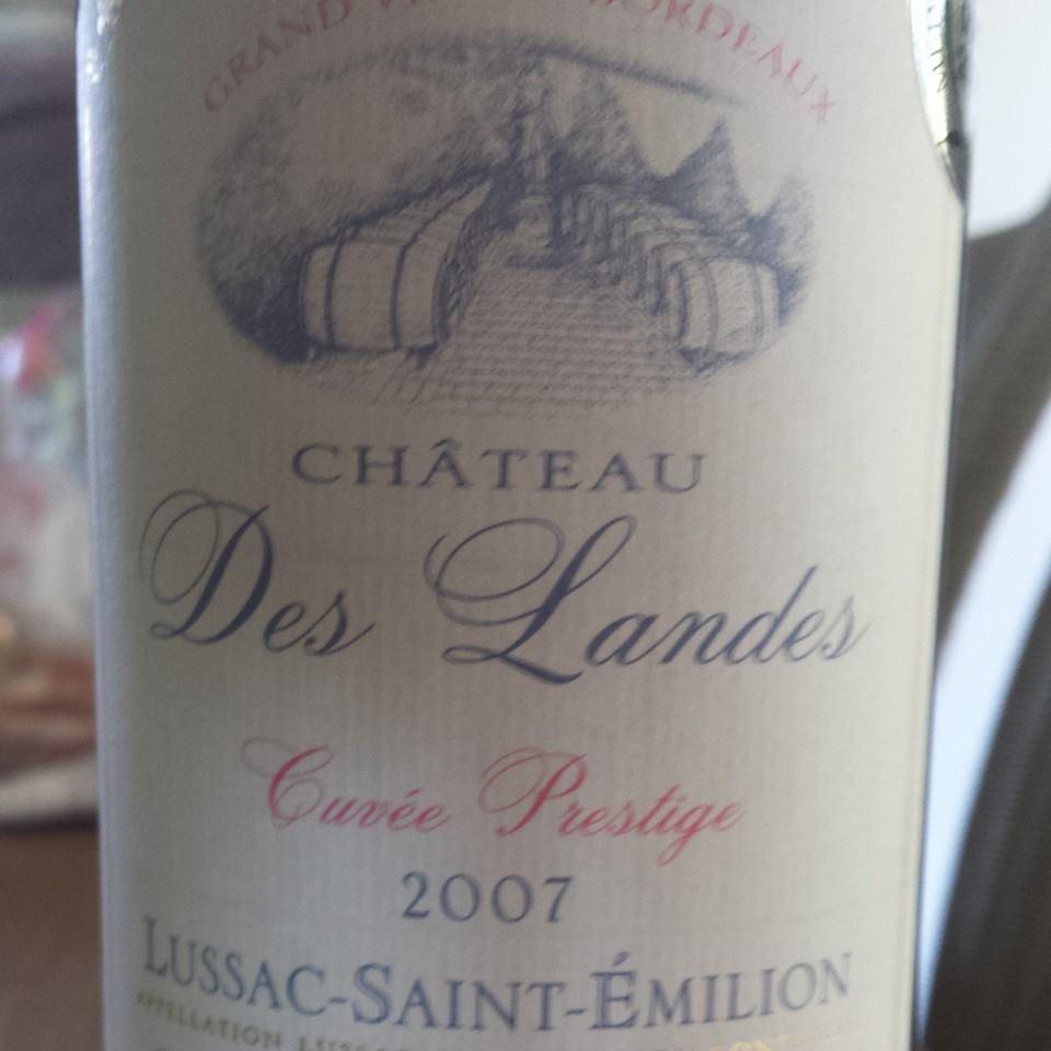Château des Landes – Cuvée Prestige 2007 – Lussac Saint-Emilion