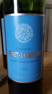 Château Féret-Lambert 2010 – Bordeaux Supérieur