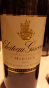 Château Giscours – 3ème Cru Classé de Margaux 2012