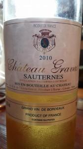 Château Gravas 2010 – Sauternes