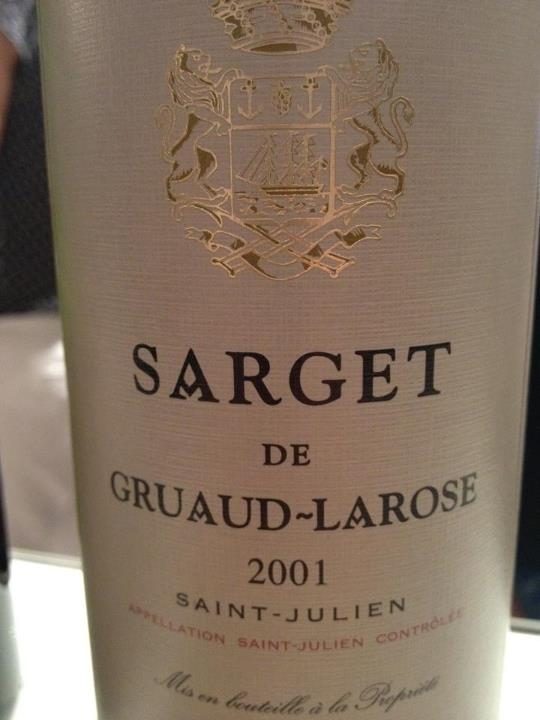 Sarget de Gruaud Larose 2001 – Saint-Julien
