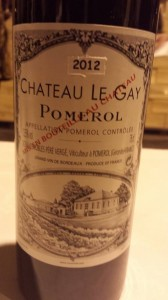 Château Le Gay – Pomerol 2012