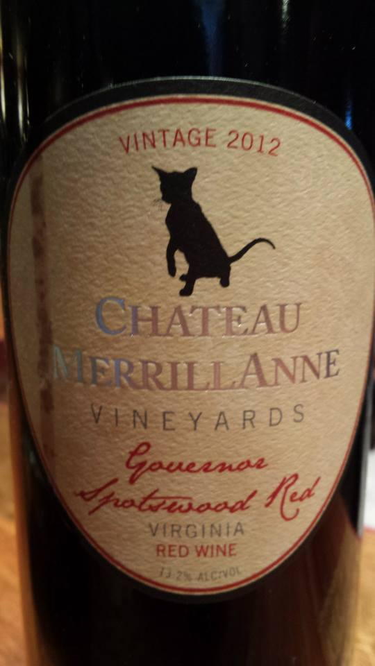Château MerrillAnne – Governor Spotswood Red 2012 – Virginia
