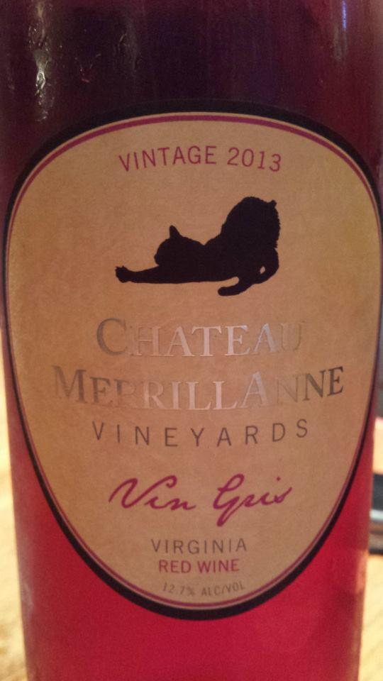 Château MerrillAnne – Vin Gris 2013 – Virginia
