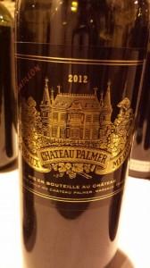 Château Palmer – 3ème Cru Classé de Margaux 2012
