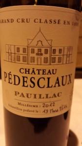 Château Pédesclaux 2012 – 5ème Cru Classé de Pauillac