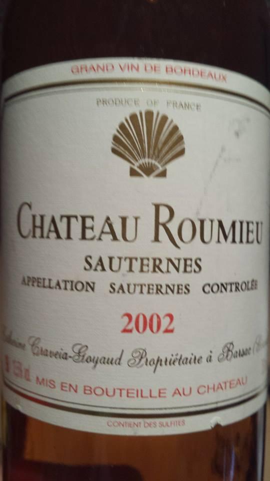 Château Roumieu – Sauternes – 2002