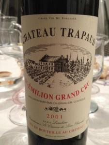 Château Trapaud – Saint-Emilion Grand Cru 2001