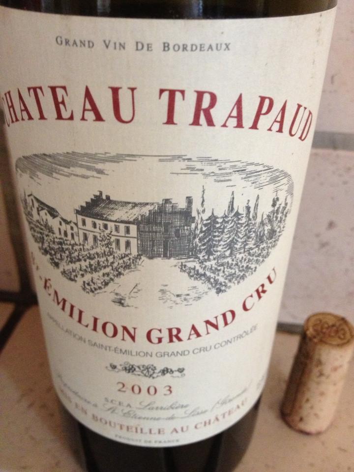 Château Trapaud – Saint-Emilion Grand Cru – 2003