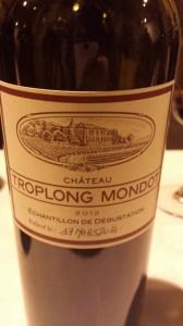 Château Troplong Mondot – 1er Grand Cru Classé B de Saint-Emilion 2012