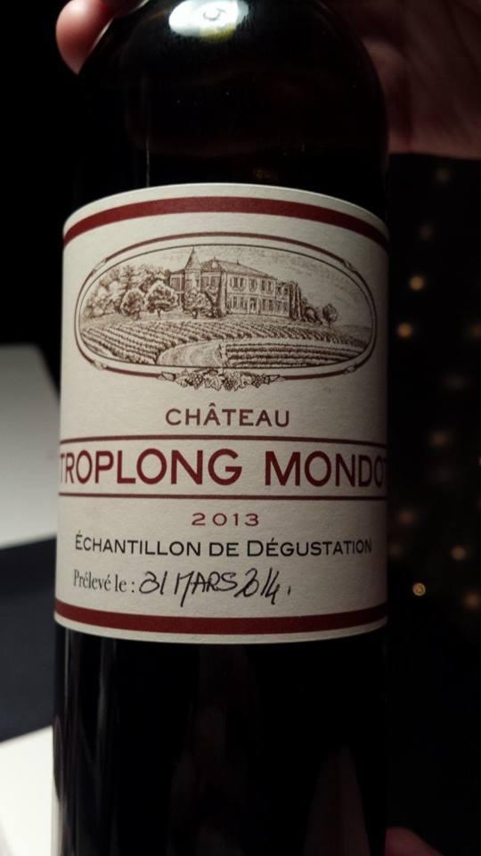 Château Troplong Mondot – 1er Grand Cru Classé B de Saint-Emilion – 2013