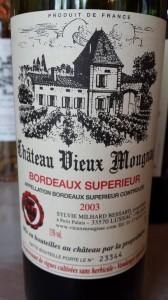 Château Vieux Mougnac 2003 – Bordeaux Supérieur