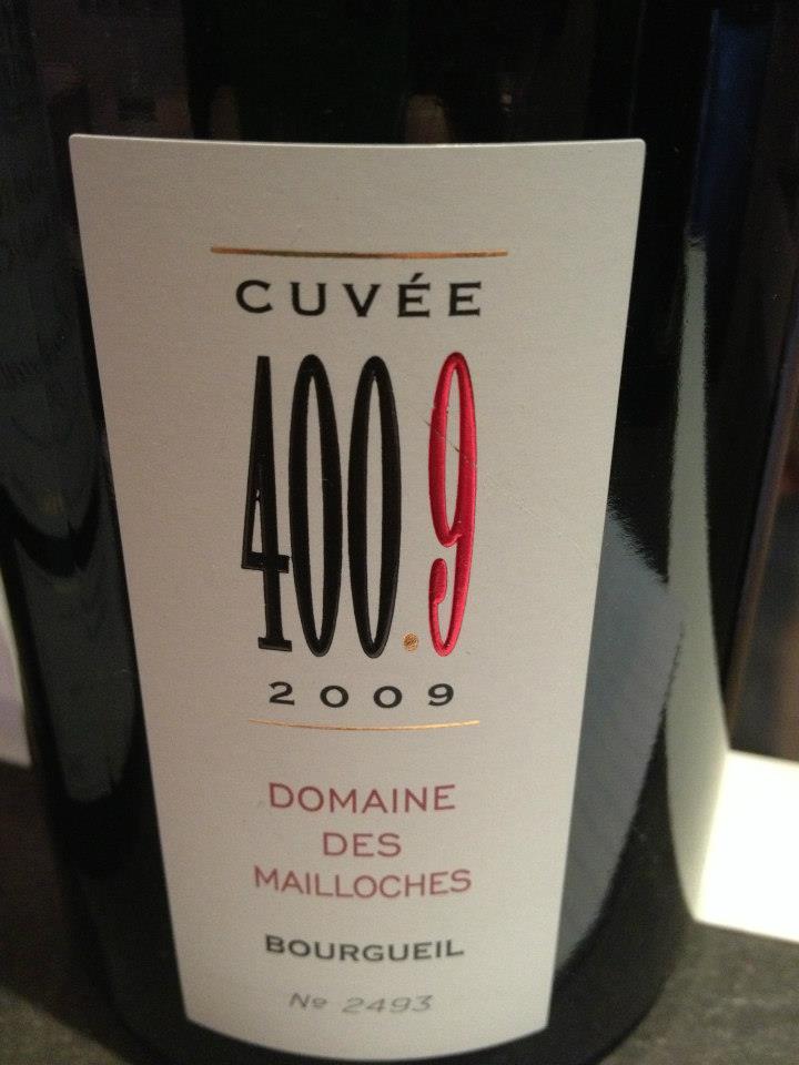 Domaine des Mailloches – Cuvée 400.9 – 2009 – Bourgueil