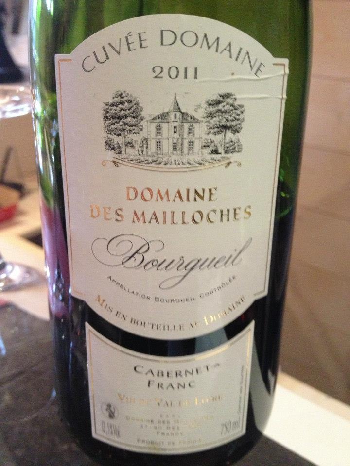 Domaine des Mailloches – Cuvée Domaine 2011 (Cabernet Franc) – Bourgueil