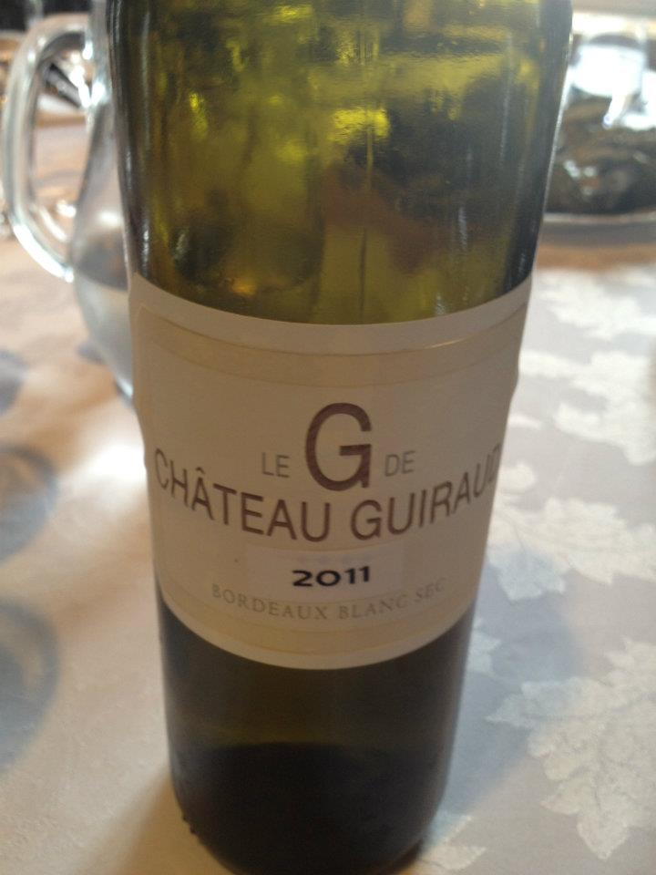 G de Château Guiraud 2011 (primeurs) – Bordeaux Blanc