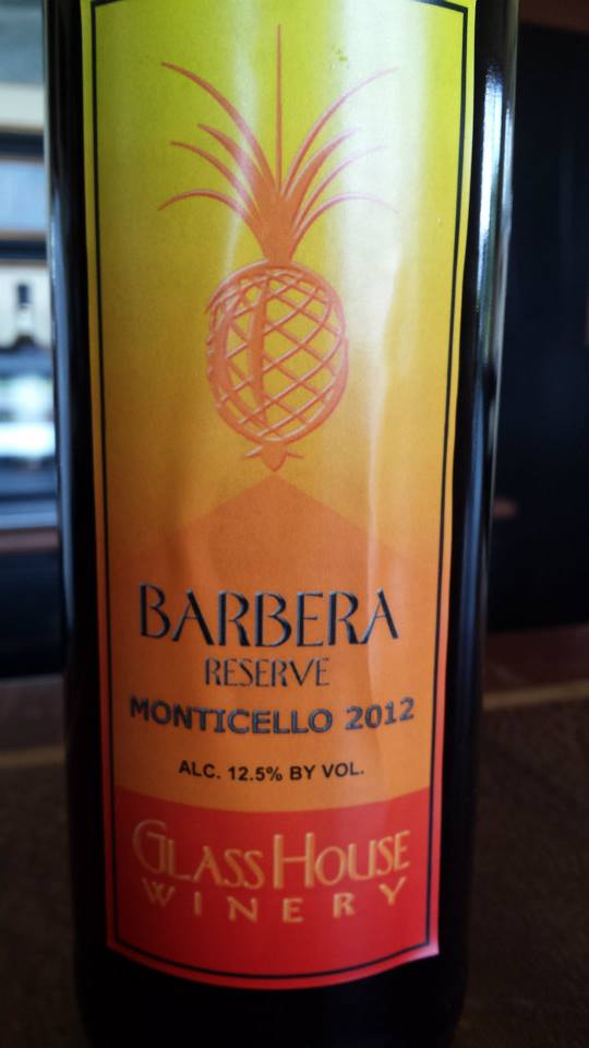 Glass House Winery – Barbera Reserve 2012 – Monticello