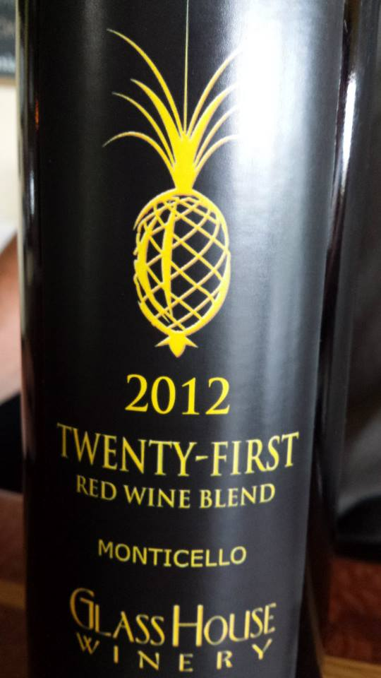 Glass House Winery – 21st (Twenty-First) 2012 – Monticello