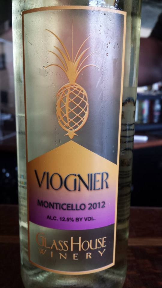 Glass House Winery – Viognier 2012 – Monticello