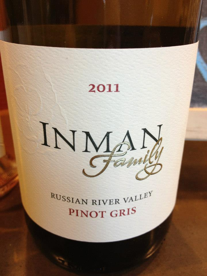 Inman Family – Pinot Gris 2011 – Russian River Valley – Sonoma