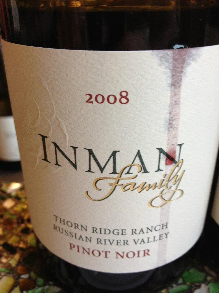 Inman Family – Pinot Noir – Thorn Ridge Ranch – 2008 – Russian River Valley – Sonoma