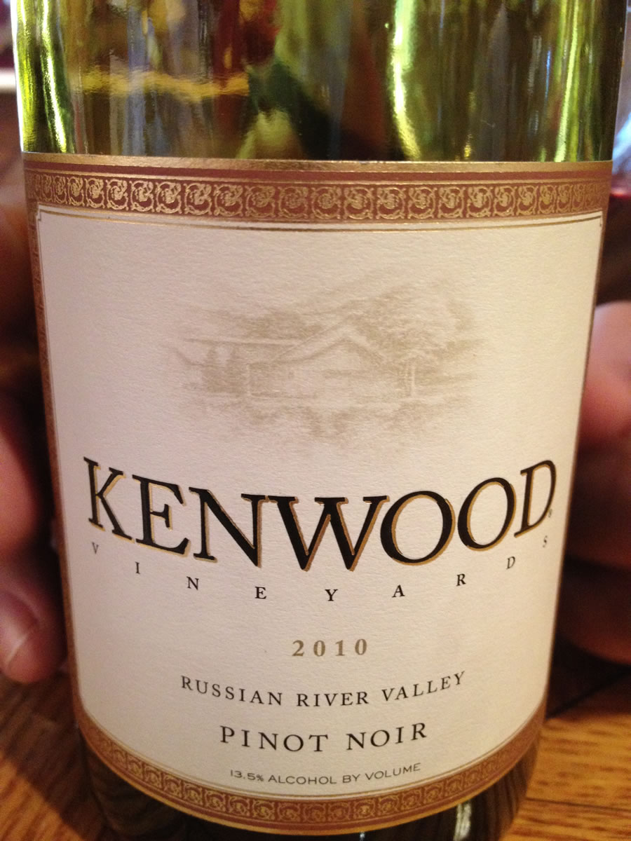 Kenwood Winery – Pinot Noir 2010 – Russian River Valley – Sonoma