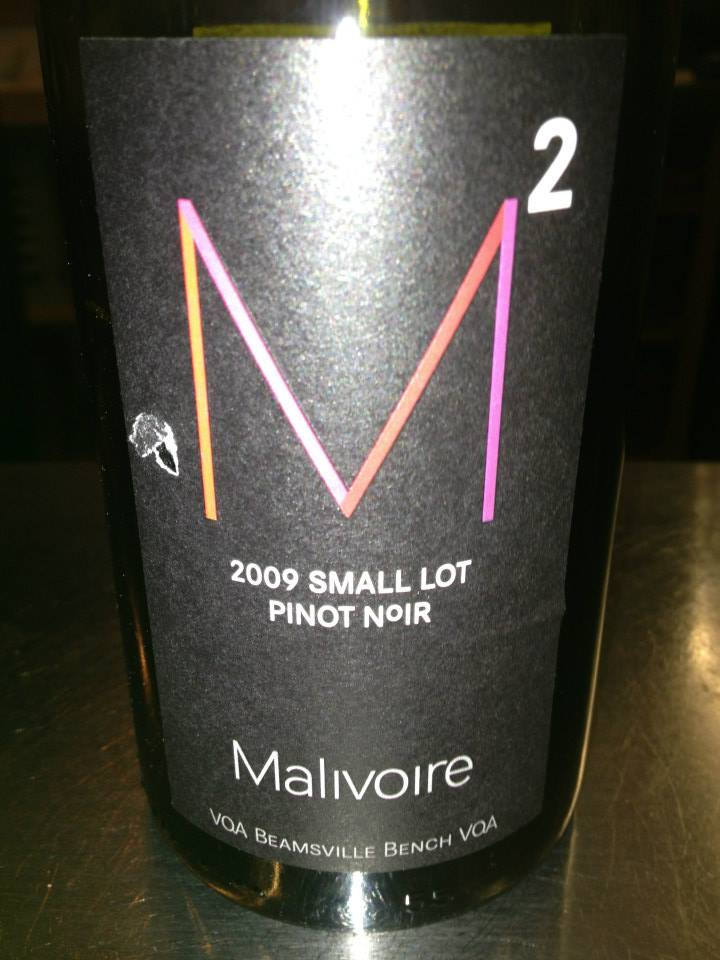 Malivoire Winery – M2 Pinot Noir – Small Lot 2009 – VQA Beamsville Bench VQA