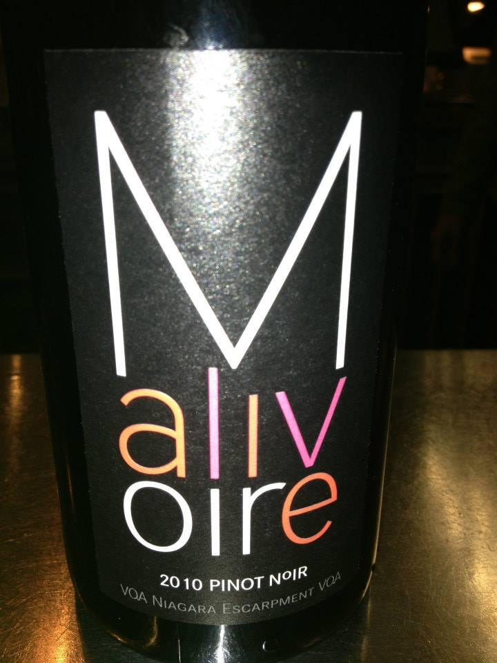Malivoire Winery – Pinot Noir 2010 – VQA Niagara Escarpment VQA