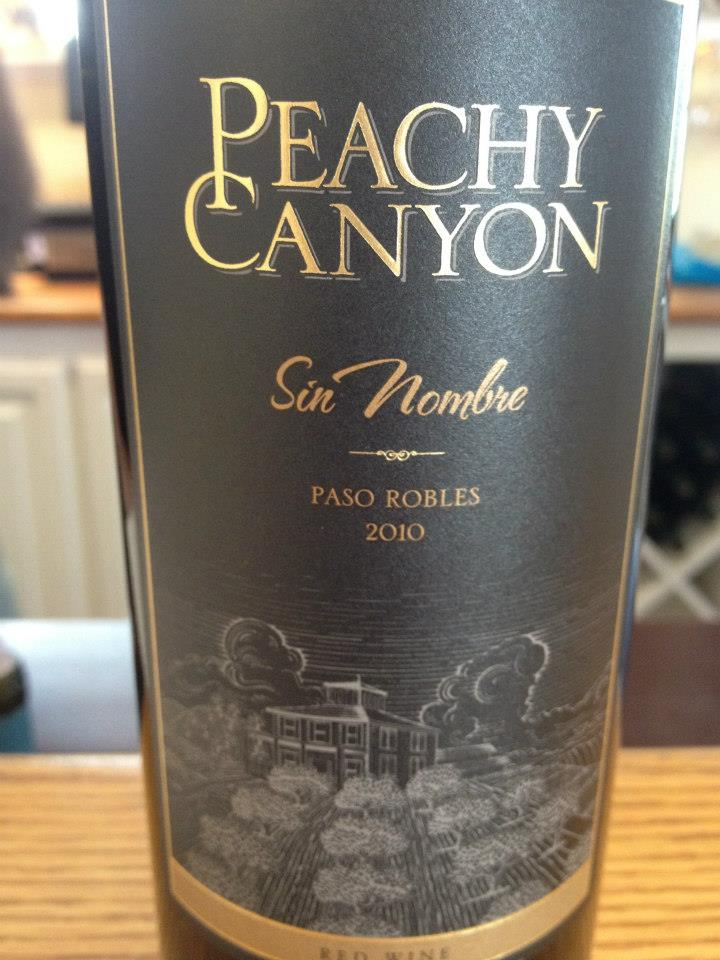Peachy Canyon Winery – Sin Nombre 2010 – Paso Robles