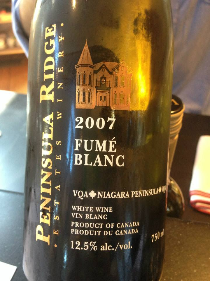 Peninsula Ridge Estates Winery – Fumé blanc – 2007 – VQA Niagara Peninsula VQA