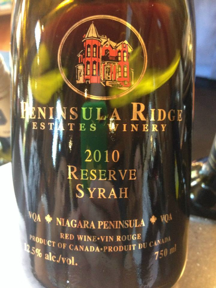 Peninsula Ridge Estates Winery – Reserve Syrah – 2010 – VQA Niagara Peninsula VQA