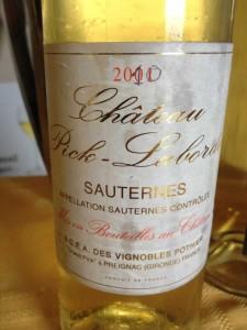 Château Pick Laborde 2010 – Sauternes