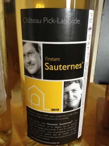 Château Pick Laborde – Cuvée « Instant Sauternes » 2010 – Sauternes